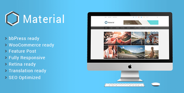 material - WordPress SEO Friendly Themes