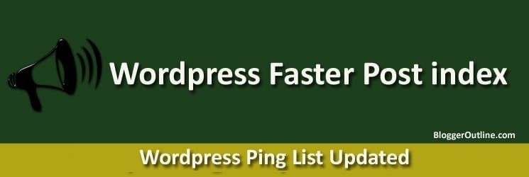 wordpress ping list updated 2019